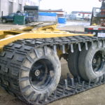 Wheel covering tracks for trailers