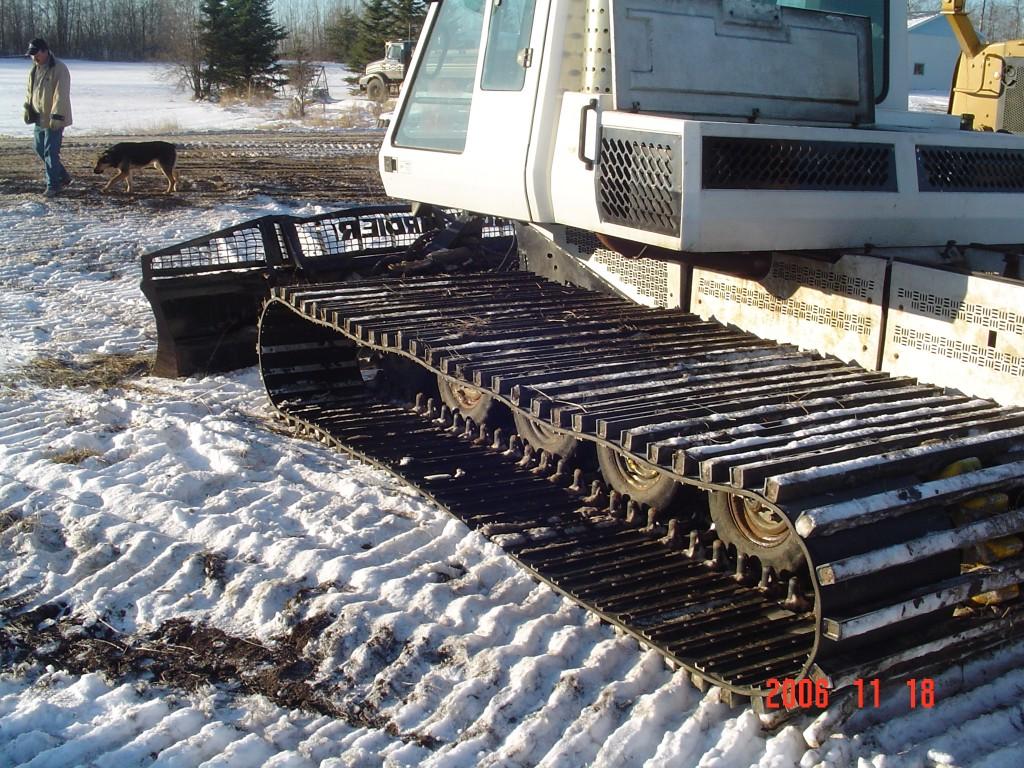 Snowcat tracks