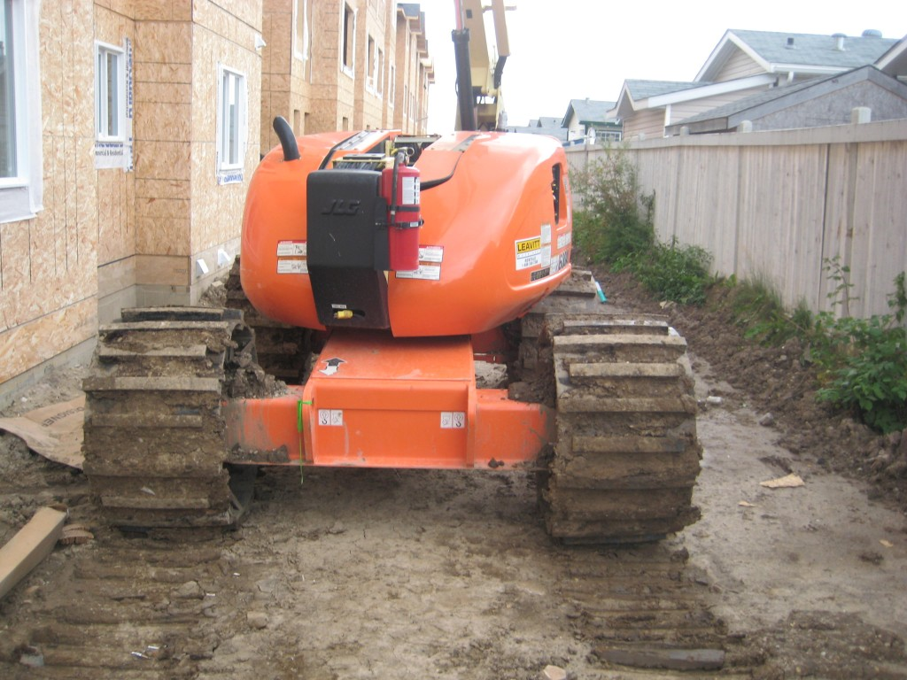 Image of rubber tracks for aerial lift and custom aerial lift tracks.
