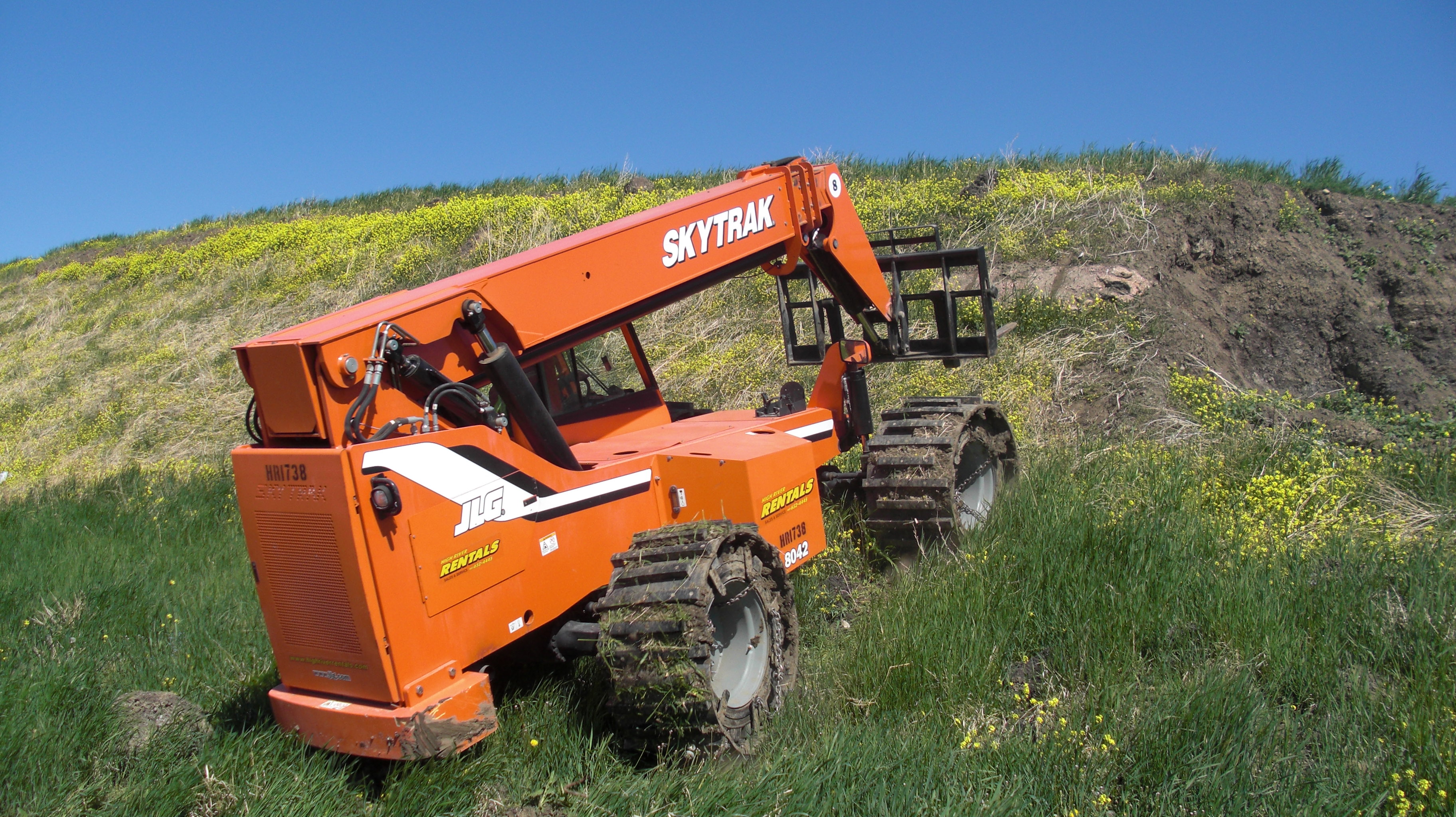 Image of custom telehandler tracks and rubber telehandler tracks.