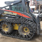 skid steer tracks for sale and skid loader tracks on a Bobcat.