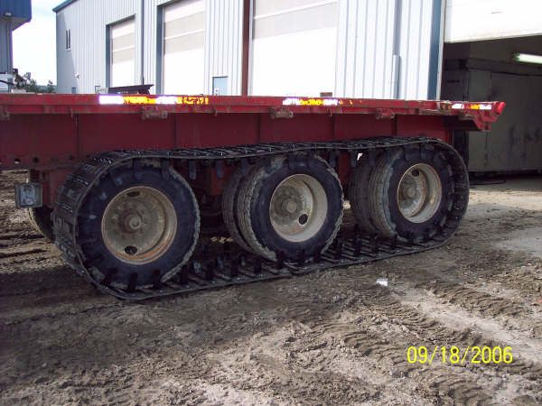 trailer track system installed on trailer