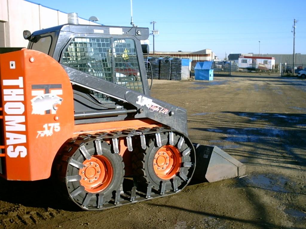 skid steer tracks on Bobcat