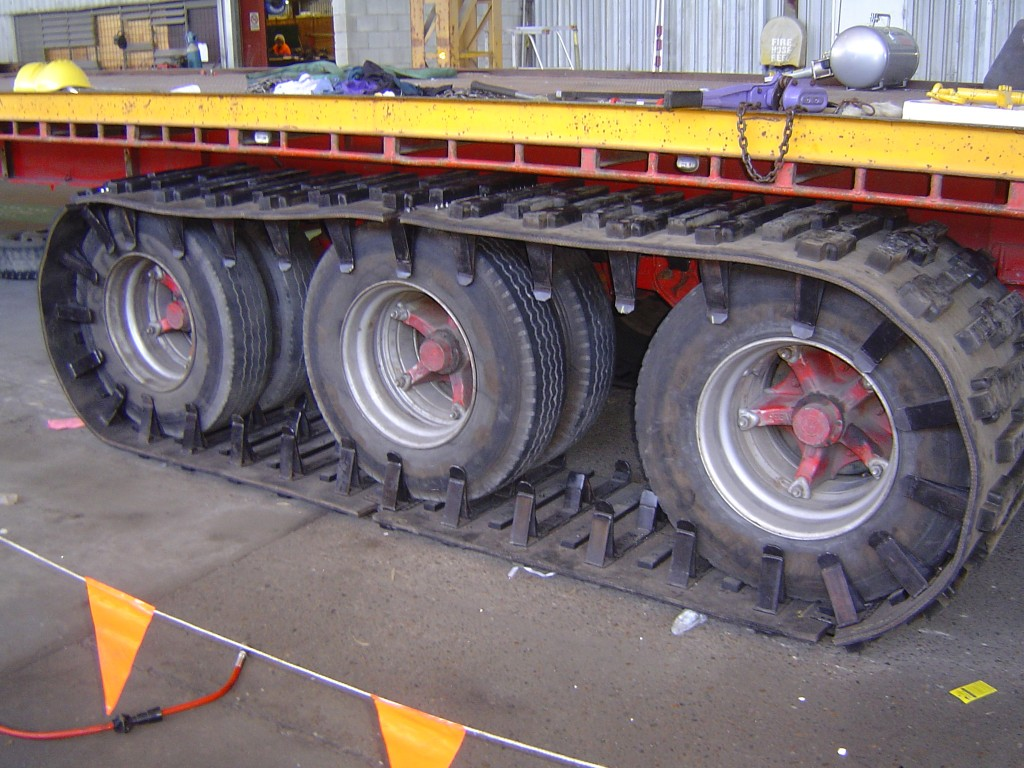 Image of tracks for trailers and trailer track system.