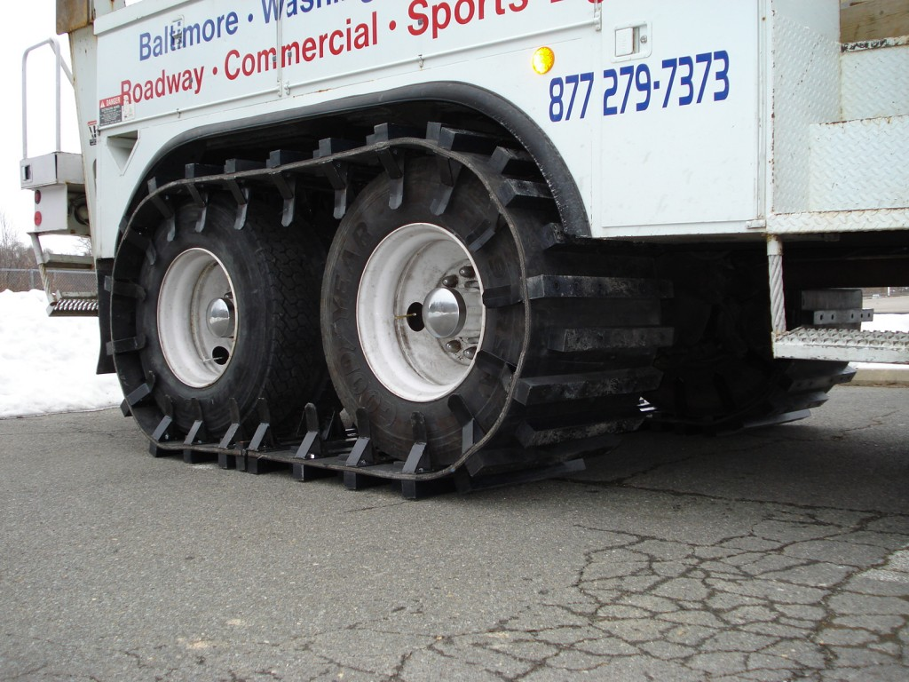 Image of custom rubber tracks and off road tracks for trucks.