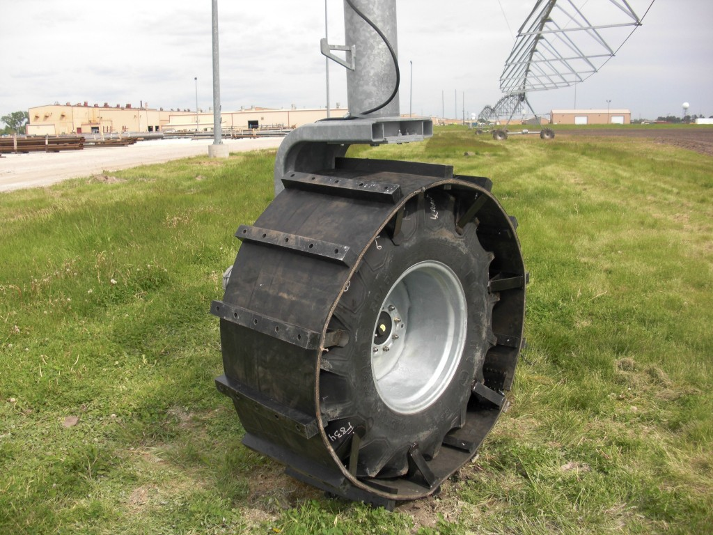 Image of agricultural rubber tire track system