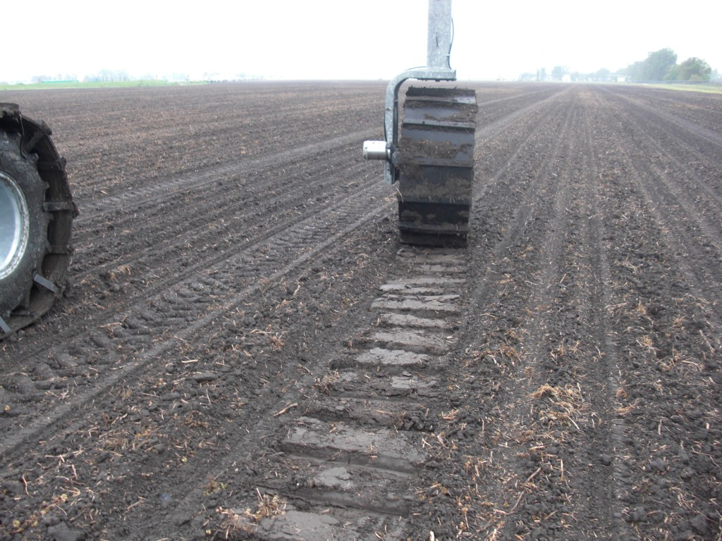 Custom agricultural rubber tracks.
