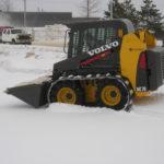 skid loader tracks on a Bobcat.