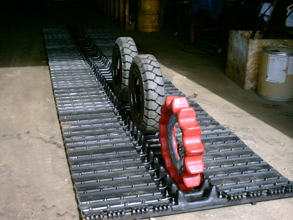 Image of Piston Bulley rubber track assembly